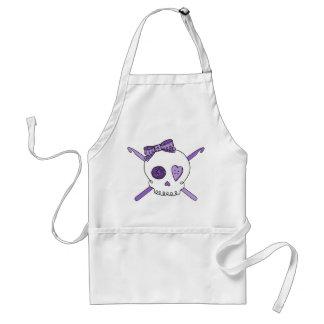 Skull & Crochet Hooks (Purple) Adult Apron