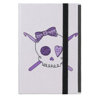 Skull & Crochet Hooks (Purple Background) Cover For iPad Mini