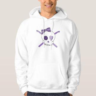 Skull & Crochet Hooks (Purple) Hoodie