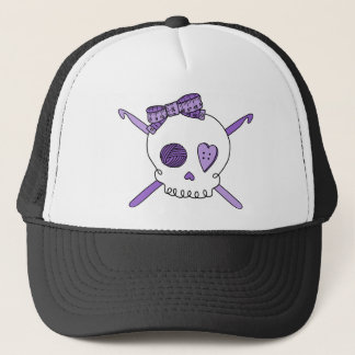 Skull & Crochet Hooks (Purple) Trucker Hat