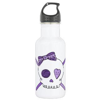 Skull & Crochet Hooks (Purple) Water Bottle