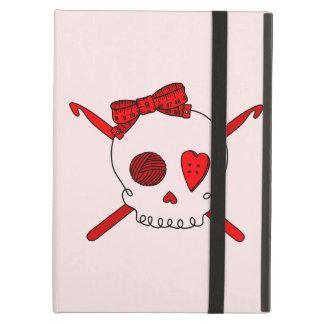 Skull & Crochet Hooks (Red Background) Case For iPad Air