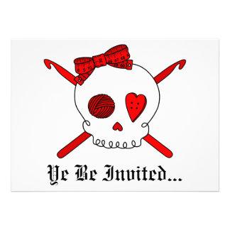 Skull & Crochet Hooks (Red) Announcements