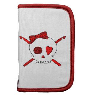 Skull & Crochet Hooks (Red) Organizer