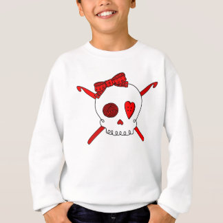 Skull & Crochet Hooks (Red) Sweatshirt