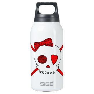 Skull & Crochet Hooks (Red) Thermos Bottle