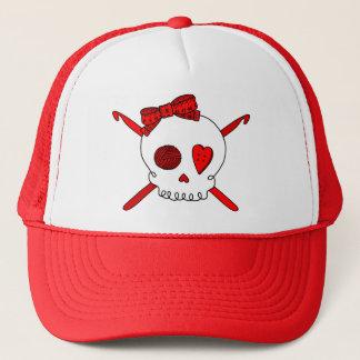 Skull & Crochet Hooks (Red) Trucker Hat