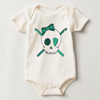 Skull & Crochet Hooks (Turquoise) Baby Bodysuit