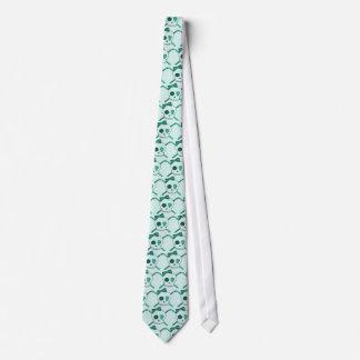 Skull & Crochet Hooks (Turquoise Background) Neck Tie