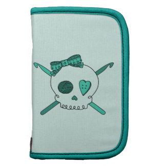 Skull & Crochet Hooks (Turquoise Background) Planner
