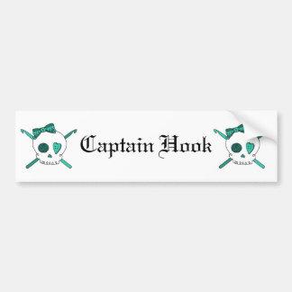 Skull & Crochet Hooks (Turquoise) Bumper Sticker