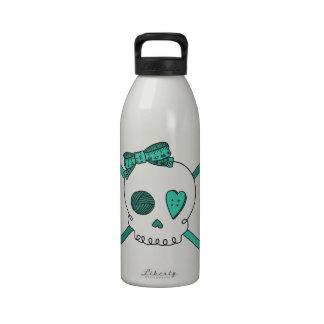Skull & Crochet Hooks (Turquoise) Drinking Bottles