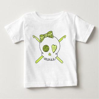 Skull & Crochet Hooks (Yellow) Baby T-Shirt