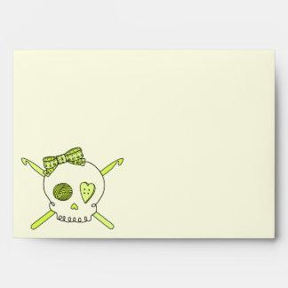 Skull & Crochet Hooks (Yellow Background) Envelope
