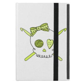 Skull & Crochet Hooks (Yellow) iPad Mini Covers