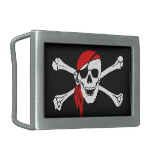 Skull & Cross Bones Belt Buckle