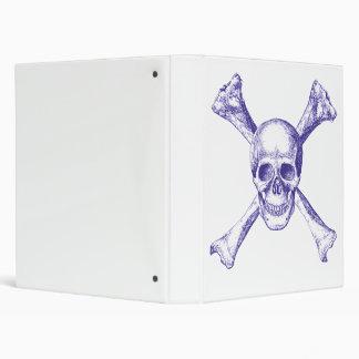 Skull & Cross Bones - Blue Binder