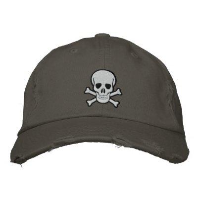 Skull & Cross Bones Embroidered Cap