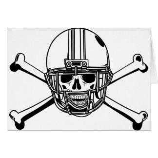 Skull & Cross Bones Football Player Card