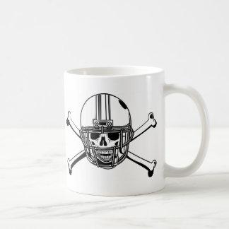 Skull & Cross Bones Football Player Coffee Mug