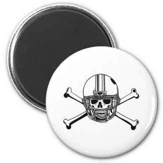 Skull & Cross Bones Football Player Magnet
