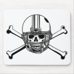 Skull & Cross Bones Football Player Mouse Pad