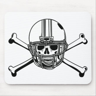 Skull & Cross Bones Football Player Mouse Pad