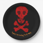 Skull & Cross Bones Paper Plate