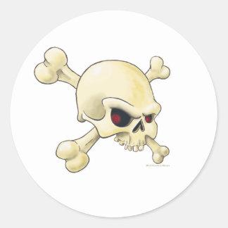 skull-cross-bones.png classic round sticker