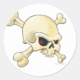 skull-cross-bones.png pegatina redonda