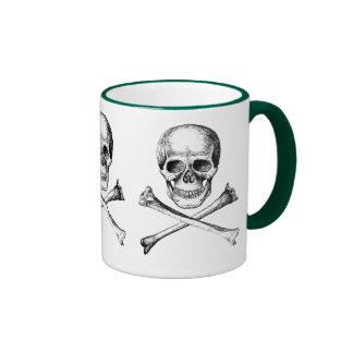 Skull & Cross Bones Ringer Coffee Mug