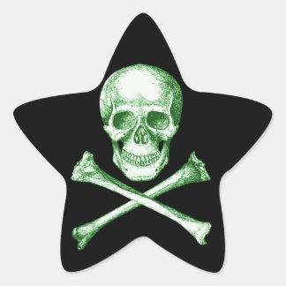 Skull & Cross Bones. Star Sticker
