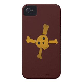 Skull Cross brown Case-Mate iPhone 4 Case