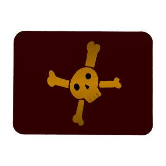 Skull Cross brown Magnet