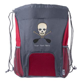 Skull & Cross Paddles Drawstring Bag Drawstring Backpack