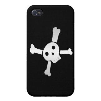 Skull Cross white iPhone 4 Cover