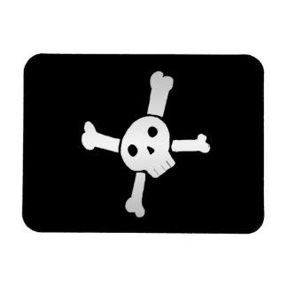 Skull Cross white Magnet