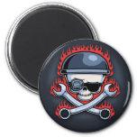 Skull & Cross Wrenches Fridge Magnet