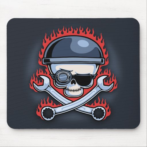 Skull & Cross Wrenches Mousepads