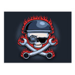 Skull & Cross Wrenches Post Cards