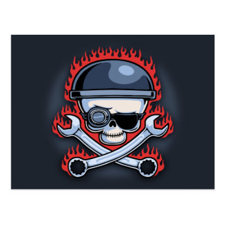 Skull & Cross Wrenches Postcard