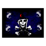 Skull, Crossbones, and Cat Business Card
