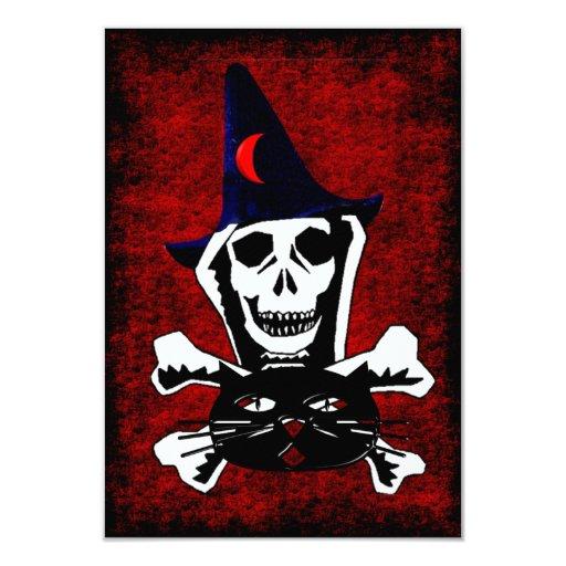 Skull, Crossbones, and Cat Card