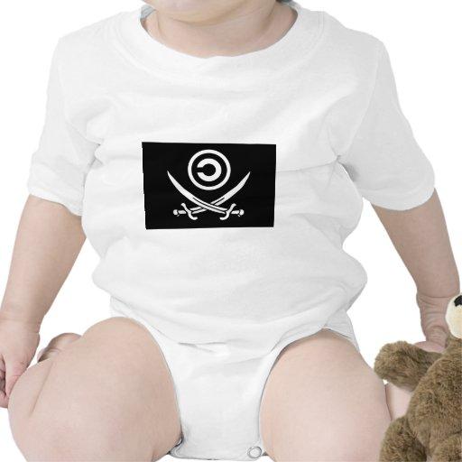 Skull & Crossbones Anti-Copyright Copyleft Flag Bodysuits