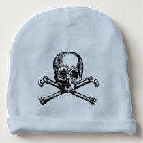 Skull & Crossbones Baby Beanie   3 Colors