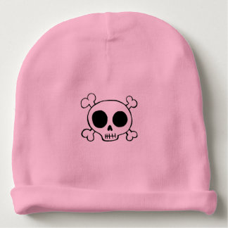 Skull & Crossbones Baby Girl Hat