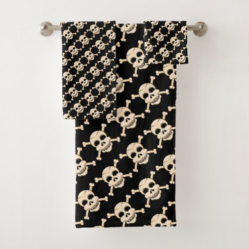 Skull & Crossbones Bathroom Towel Set