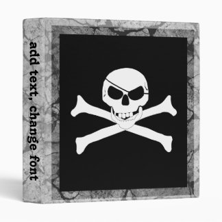 Skull & Crossbones 3 Ring Binders