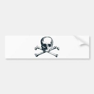 skull crossbones bumper sticker