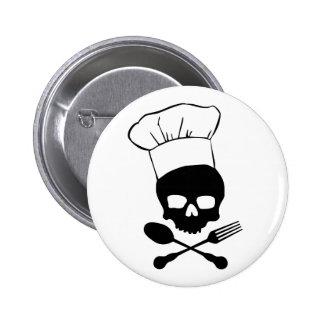 Skull & Crossbones Chef Pinback Button